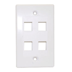 Keystone - Quad Outlet Wall Plate