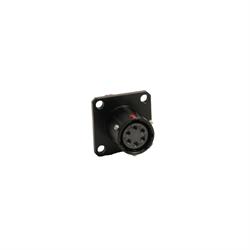 PT 6-Pin M/F Bulkhead - BLACK