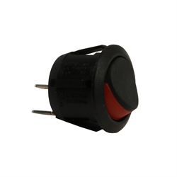 Rocker Switch - Round - 16A @ 12VDC - On-Off Red Marking