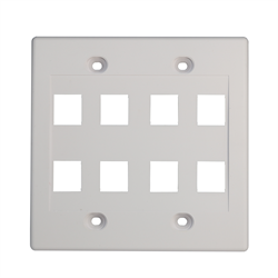 Keystone - Double Gang 8 Cut Out Wall Plate