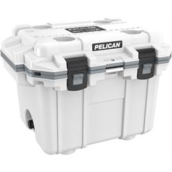 Pelican ProGear Elite Cooler - 30QT - White/Grey