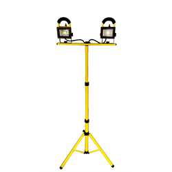 LED - Work Light, Twin Head w/Tripod 1600 Lumen