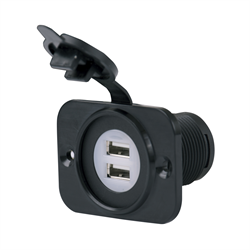 Marinco - SEALINK® - 12-24V Dual USB Charger w/ Mounting Plate