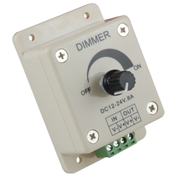 Knob Operated LED Dimmer for Single Color LED Strip