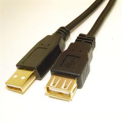 USB 2.0 A/A M/F Extension 10ft.