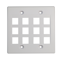 Keystone - Double Gang 12 Cut Out Wall Plate