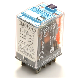 Releco Relay DPDT 8-Blade Polarity and Diode