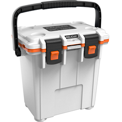 Pelican ProGear Elite Cooler - 20QT - White/Sunset Orange