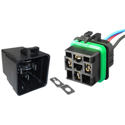 Sealed Relay & Pigtail - 12VDC 30/40 Amp