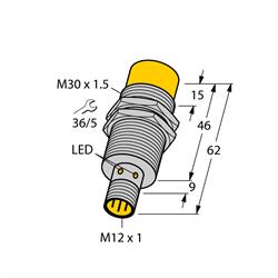 TURCK - ID# 1646631 - Proximity Sensor; Inductive, Range 30mm