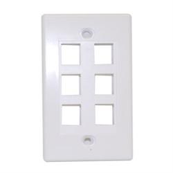 Keystone - Six Outlet Wall Plate
